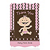 Modern Baby Girl Caucasian - Personalized Baby Shower Thank You Cards
