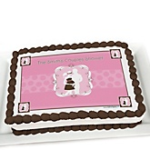 Silhouette Couples Baby Shower - It's A Girl - Personalized Baby Shower Cake Image Topper