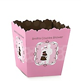 Silhouette Couples Baby Shower - It's A Girl - Personalized Baby Shower Candy Boxes