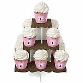 Silhouette Couples Baby Shower - It's A Girl - Baby Shower Cupcake Stand & 13 Cupcake Wrappers