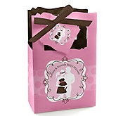Silhouette Couples Baby Shower - It's A Girl  - Personalized Baby Shower Favor Boxes