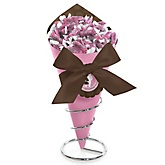Silhouette Couples Baby Shower - It's A Girl - Baby Shower Candy Bouquets with Frooties