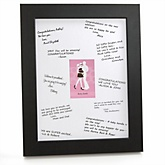 Silhouette Couples Baby Shower - It's A Girl - Personalized Baby Shower Print with Signature Mat