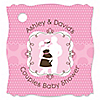 Silhouette Couples Baby Shower - It's A Girl - Personalized Baby Shower Tags - 20 ct
