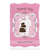 Silhouette Couples Baby Shower It's A Girl - Personalized Baby Shower Thank You Cards