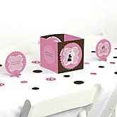 Silhouette Couples Baby Shower - It's A Girl - Baby Shower Centerpiece & Table Decoration Kit