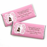 Silhouette Couples Baby Shower - It's A Girl - Personalized Baby Shower Candy Bar Wrapper