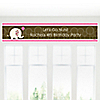 Girl Elephant - Personalized Birthday Party Banners