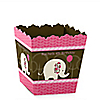 Girl Elephant - Personalized Birthday Party Candy Boxes