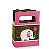 Girl Elephant - Personalized Birthday Party Mini Favor Boxes