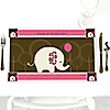 Girl Elephant - Personalized Birthday Party Placemats