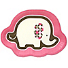 Girl Elephant  - Birthday Party Dinner Plates - 8 ct