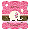 Girl Elephant - Personalized Birthday Party Tags - 20 ct