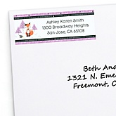 Miss Foxy Fox - Personalized Baby Shower Return Address Labels - 30 ct