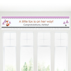 Miss Foxy Fox - Personalized Baby Shower Banners