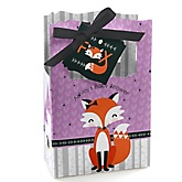 Miss Foxy Fox - Personalized Baby Shower Favor Boxes