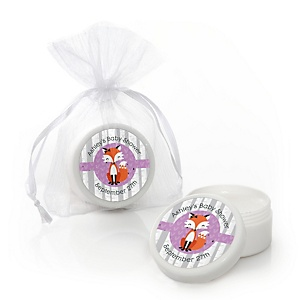 Miss Foxy Fox - Personalized Baby Shower Lip Balm Favors