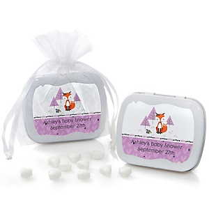 Miss Foxy Fox - Personalized Baby Shower Mint Tin Favors
