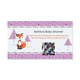 Miss Foxy Fox - Personalized Baby Shower Scratch-Off Game – 22 Count