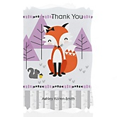 Miss Foxy Fox - Personalized Baby Shower Thank You Cards