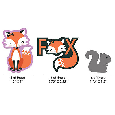 Foxy Baby Shower Cut-Outs