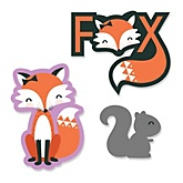 Miss Foxy Fox - Shaped Baby Shower Paper Cut-Outs - 24 ct