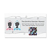 Girl Gender Reveal - Personalized Baby Shower Scratch-Off Game – 22 Count