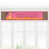 Giraffe Girl - Personalized Baby Shower Banner