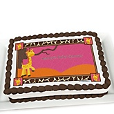 Giraffe Girl - Personalized Baby Shower Cake Image Topper