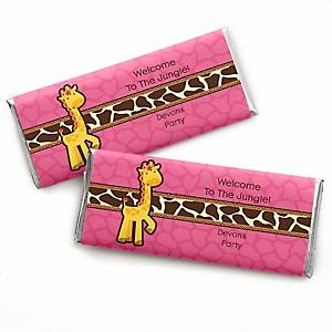 Giraffe Girl - Personalized Baby Shower Candy Bar Wrapper
