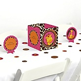 Giraffe Girl - Baby Shower Centerpiece & Table Decoration Kit