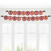 Giraffe Girl - Personalized Baby Shower Garland Banner
