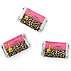 Giraffe Girl - Personalized Baby Shower Mini Candy Bar Wrapper Favors - 20 ct