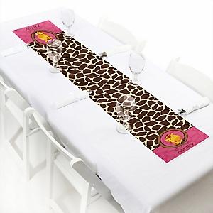 Giraffe Girl - Personalized Baby Shower Petite Table Runners