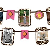 Giraffe Girl - Baby Shower Photo Bunting Banner