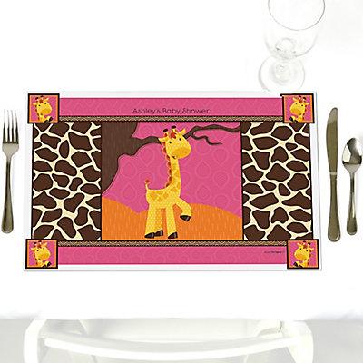 Giraffe Baby Shower Place mats