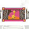 Giraffe Girl - Personalized Baby Shower Placemats