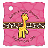 Giraffe Girl - Personalized Baby Shower Tags - 20 ct