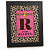 Giraffe Girl - Personalized Baby Shower Wall Art Gift