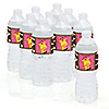 Giraffe Girl - Personalized Baby Shower Water Bottle Label Favors