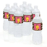 Giraffe Girl - Baby Shower Personalized Water Bottle Sticker Labels - 10 Count