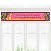 Giraffe Girl - Personalized Birthday Party Banners