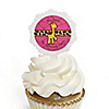 Giraffe Girl - Personalized Birthday Party Cupcake Pick and Sticker Kit - 12 ct
