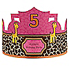 Giraffe Girl - Personalized Birthday Party Hats - 8 ct