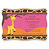 Giraffe Girl - Personalized Birthday Party Invitations