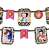 Giraffe Girl - Birthday Party Photo Garland Banners