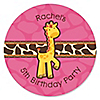 Giraffe Girl - Personalized Birthday Party Sticker Labels - 24 ct