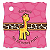 Giraffe Girl - Personalized Birthday Party Tags - 20 ct