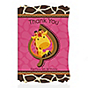Giraffe Girl - Personalized Birthday Party Thank You Cards
