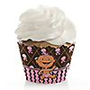 Modern Baby Girl Hispanic - Baby Shower Cupcake Wrappers